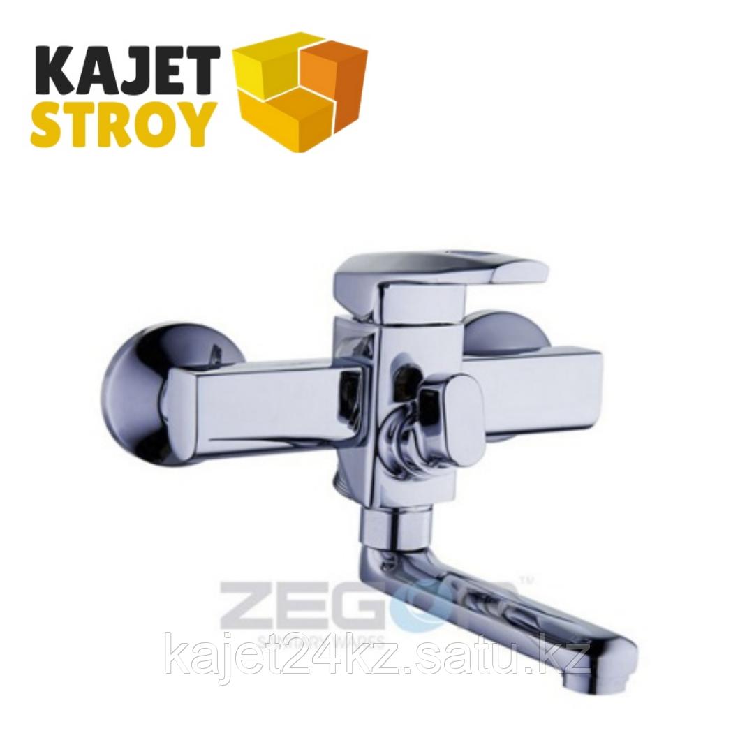 Смеситель ZEGOR NOF3-A033 одноручный для ванны короткий с литым поворотным изливом (10)