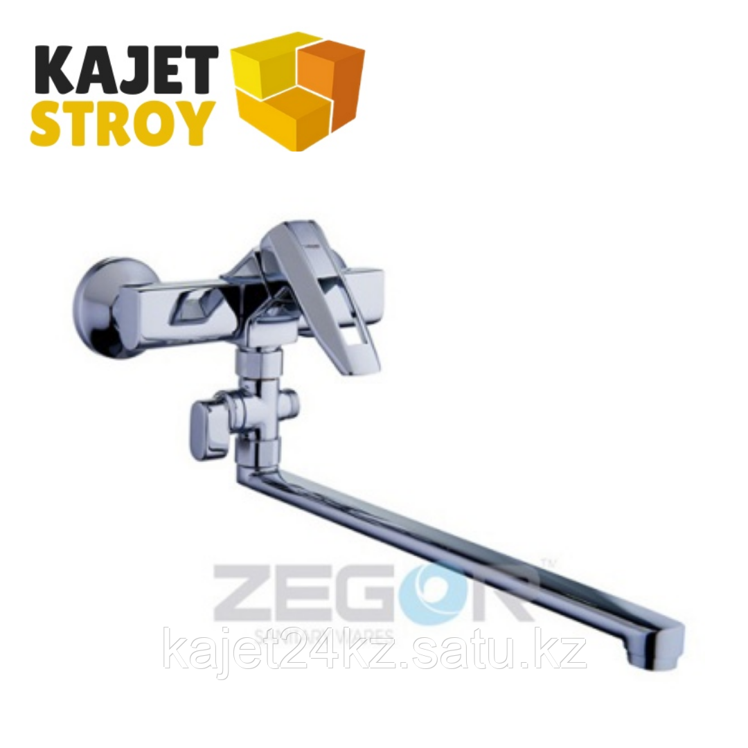 Смеситель ZEGOR NOF6-A033 для ванны, одноручный, с поворотным изливом (10)