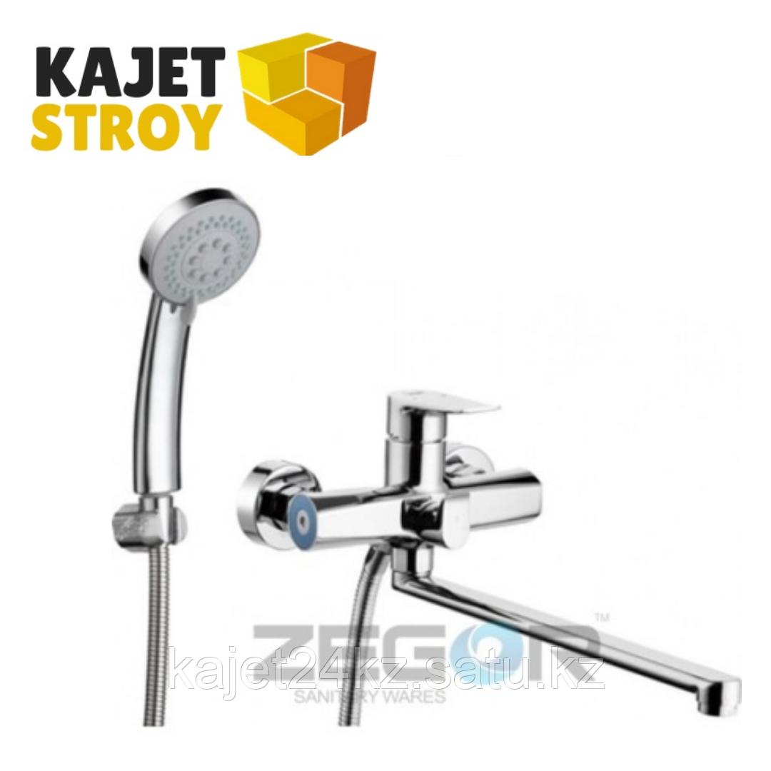 Смеситель ZEGOR NOG7-A134 одноручный для ванны с плоским изливом, дивертор (8)