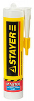 """Герметик STAYER """"MASTER"""" санитарный силиконовый, для помещений с повышенной влажностью, белый, 260мл"""