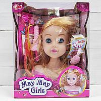 Манекен кукла (голова) для причесок и макияжа.