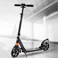 Городской складной скутер с двойной амортизацией дизайн двойной тормоз/дисковый тормоз самокат