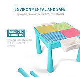 Детский столик со стульчиком 3в1 MoYu для конструктора, фото 6