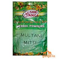 Порошок Желтая Глина Мултани Митти (Multani Mitti SHRI GANGA), 250 гр