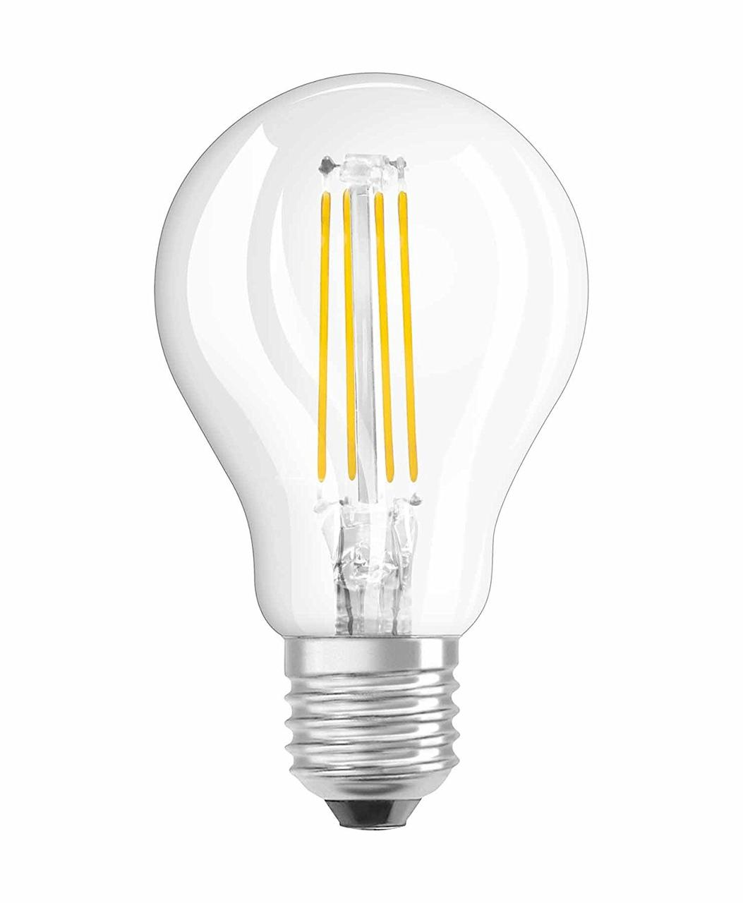 Лампа светодиодная LEDSCLP40 4W/827 230V FIL E27 10*1RU OSRAM /4052899971639/