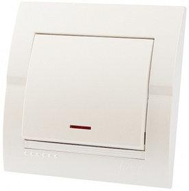 Выключатель с подсветкой белый Deriy 702-0202-111