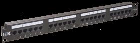 ITK 1U патч-панель кат.5Е UTP, 24 порта (IDC Krone), с кабельным органайзером