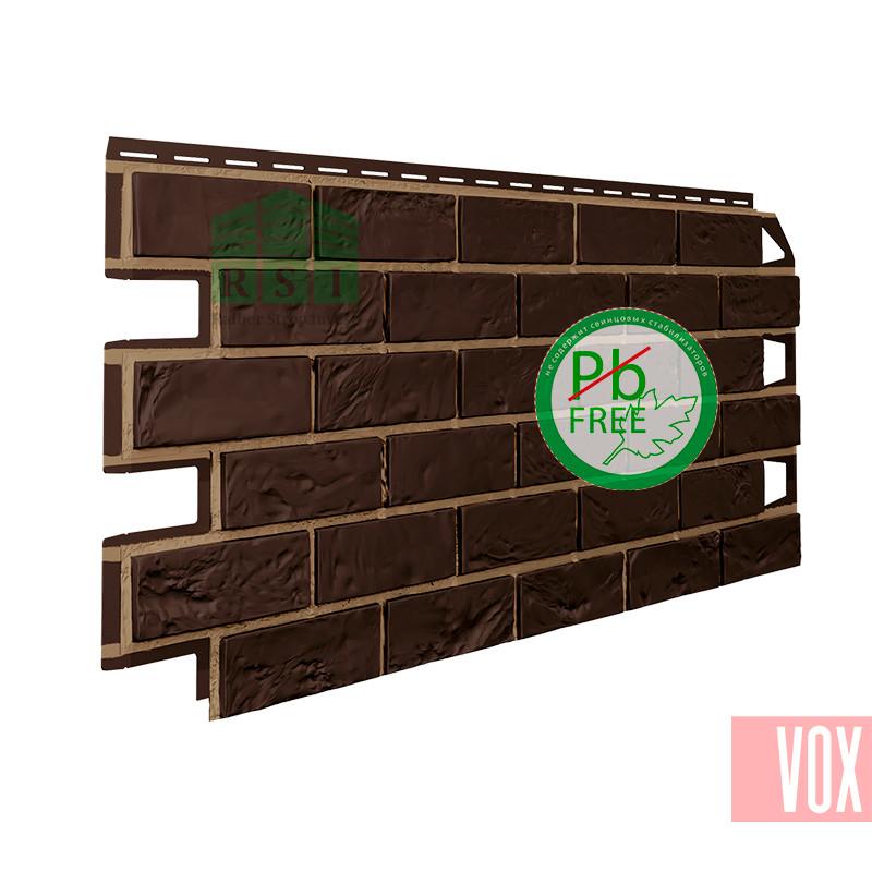 Фасадная панель VOX Vilo Brick Dark Brown  (темно-коричневый кирпич)