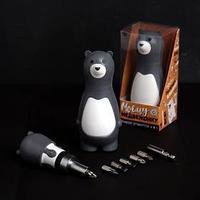 Подарочный набор инструментов 'Моему медвежонку', подарочная упаковка, набор бит 7 шт, держатель для бит