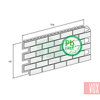 Фасадная панель VOX Vilo Brick Ginger  (имбирный кирпич), фото 3