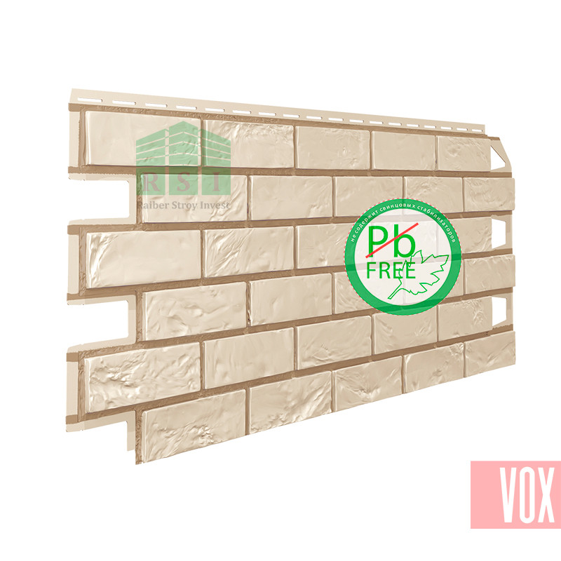 Фасадная панель VOX Vilo Brick Ivory  (слоновая кость кирпич)