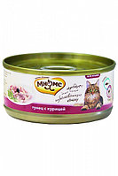 Влажный корм для кошек Мнямс с тунцом и курицей в желе