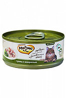 Влажный корм для кошек Мнямс с тунцом и макрелью в желе