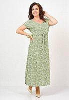 Платье женское «Людмила», вискоза, 46-58, фисташка, прямой силуэт