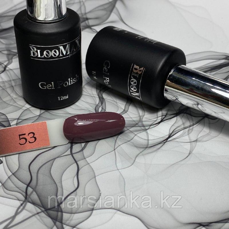 Гель лак BlooMax №53 с ароматом клубники, 12 мл