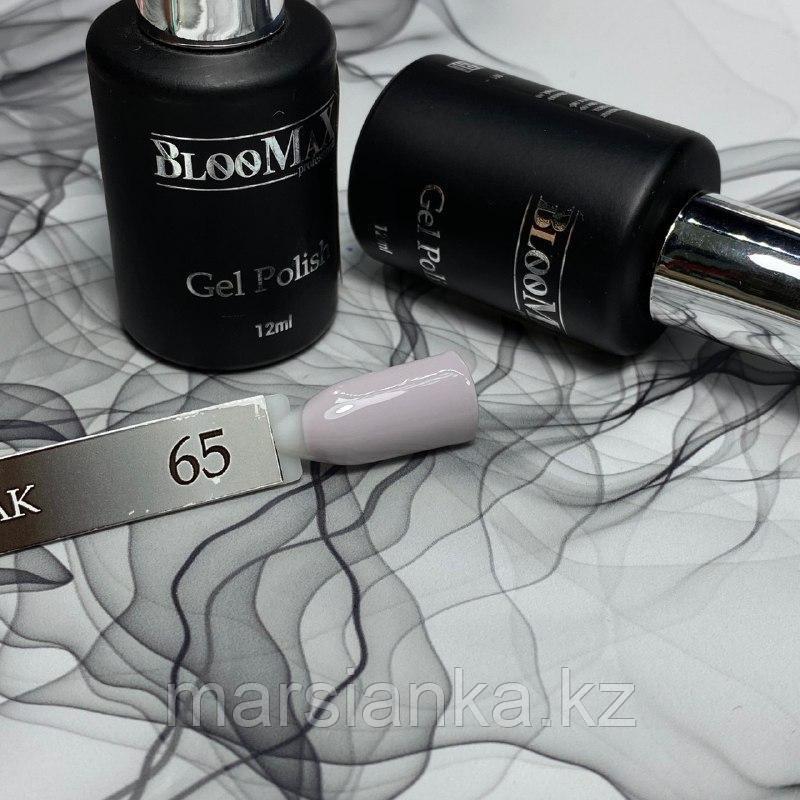 Гель лак BlooMax №65 с ароматом клубники, 12 мл