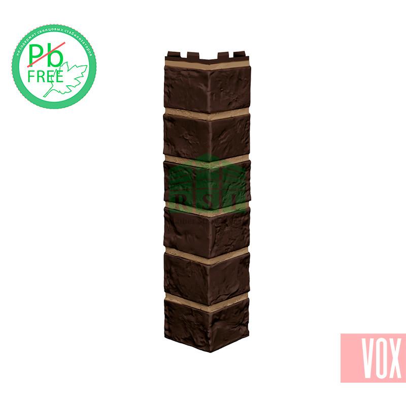 Наружный угол VOX Vilo Brick Dark Brown (темно-коричневый кирпич)