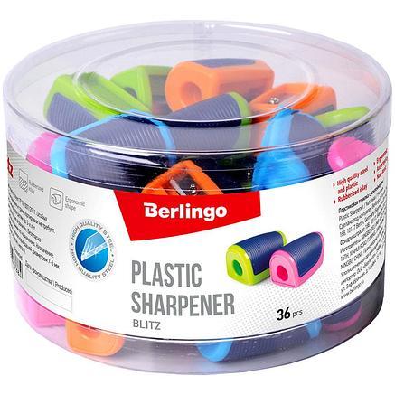 """Точилка пластиковая Berlingo """"Blitz"""", 1 отверстие, ассорти, дисплей, фото 2"""