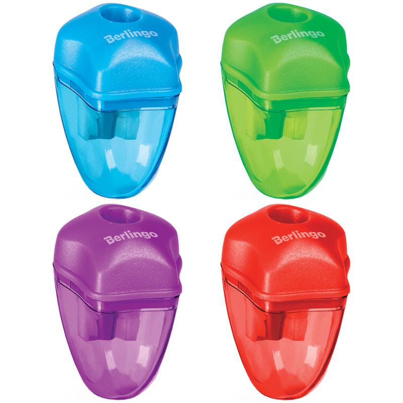 Точилка пластиковая , 1 отверстие. Яркие неоновые цвета крышки и контейнера. Позволяет легко и аккуратно произ