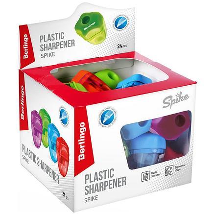 Точилка пластиковая , 1 отверстие. Яркие неоновые цвета крышки и контейнера. Позволяет легко и аккуратно произ, фото 2