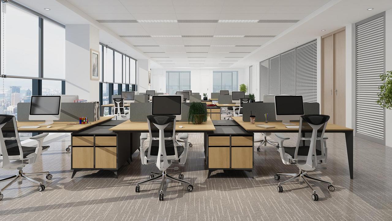 Столы офисные на  металлических опорах
