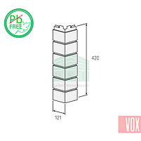Наружный угол VOX Vilo Brick Marron (каштановый кирпич), фото 2