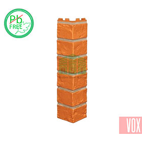 Наружный угол VOX Vilo Brick Marron (каштановый кирпич)