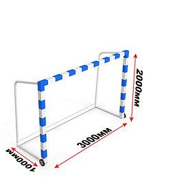 Ворота для мини футбола/гандбола передвижные с противовесом (Профиль: 80*80)