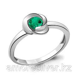 Серебряное кольцо с нано изумрудом  AQUAMARINE 63892П размеры - 17,5