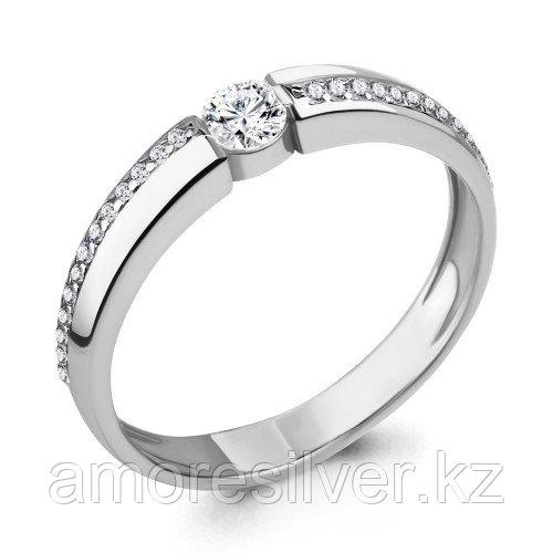 Кольцо из серебра с фианитом сваровски    Aquamarine 66547А.5 размеры - 16,5