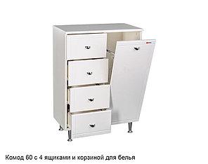 Комод 60 Идеал с 4 ящиками и корзиной для белья Домино, фото 2