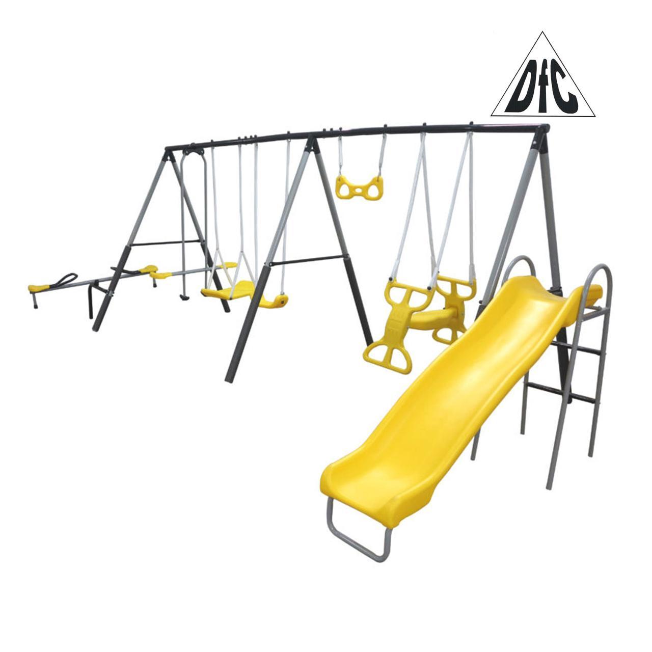 Детский комплекс DFC качели, качели-балансир и горка 76509,    НОВИНКА