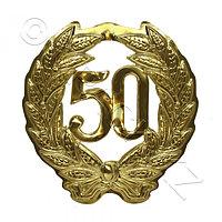 KOGLER Знак Юбилей 50 золотой d40см 1шт/уп Kg