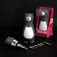 Подарочный набор инструментов 'Сильной и независимой', подарочная упаковка, набор бит 7 шт, держатель для бит