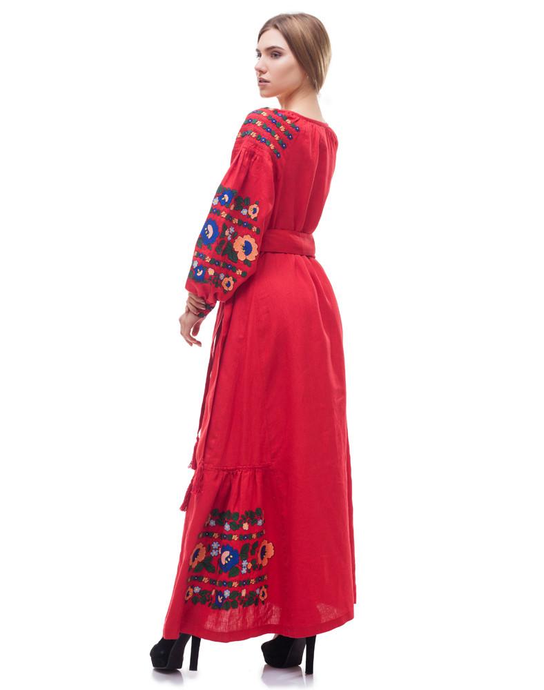 Платье Борщівські барви Д-88-3 поплин красный - фото 5