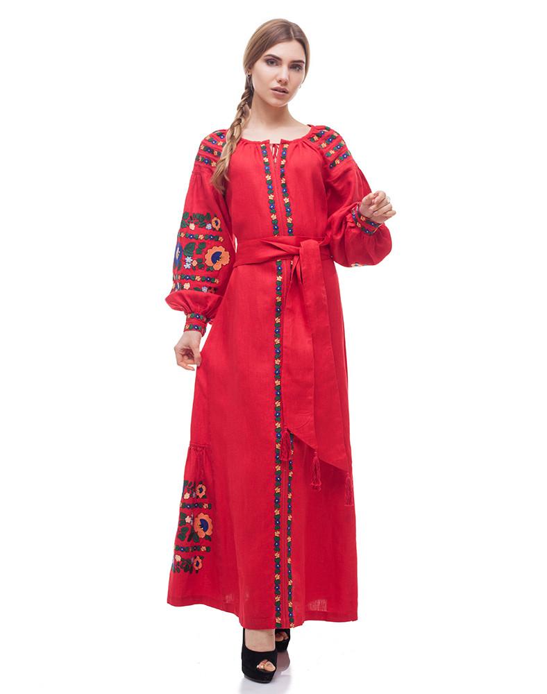 Платье Борщівські барви Д-88-3 поплин красный - фото 6