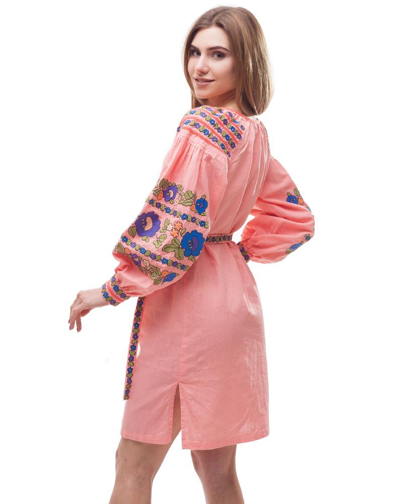 Платье Борщивськи барви лён Д-88-1 персик - фото 5