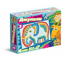 Пластмассовая детская мозаика «Джунгли», 312 элементов, фото 1
