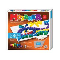 Пластмассовая мозаика для детей,240 элементов,2 поля