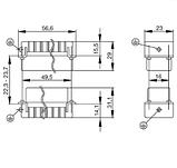 HDC HA 10 FT Вставка соединительного разъема, фото 2