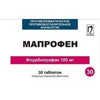 Мапрофен 100 мг №30 табл.п.п.о. / Нобел АФФ, Казахстан