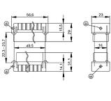 HDC HA 10 MT Вставка соединительного разъема, фото 2