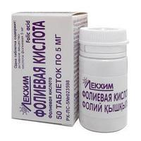 Фолиевая кислота 1 мг №50 табл. / Технолог ЧАО (Украина)