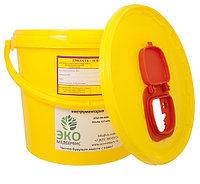 Контейнеры пластиковый для утилизации медицинских отходов объем 6 л со шлюзом для игл