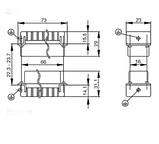 HDC HA 16 FT Вставка соединительного разъема, фото 2