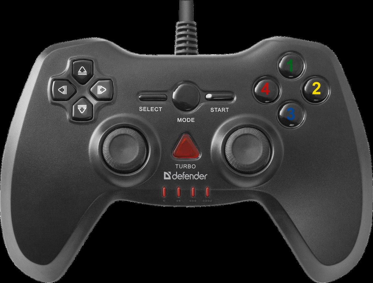 Игровой джойстик/геймпад Defender Archer USB-PS2/3 (12 кнопок, 2 стика)