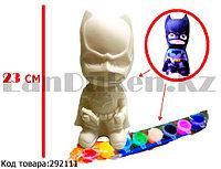 Набор для детского творчества копилка раскраска Батмен, кисточка и краски 8 цветов