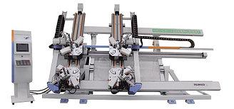 Четырехголовый углообжимной станок для алюминия LJJZ4-CNC-1800x3000