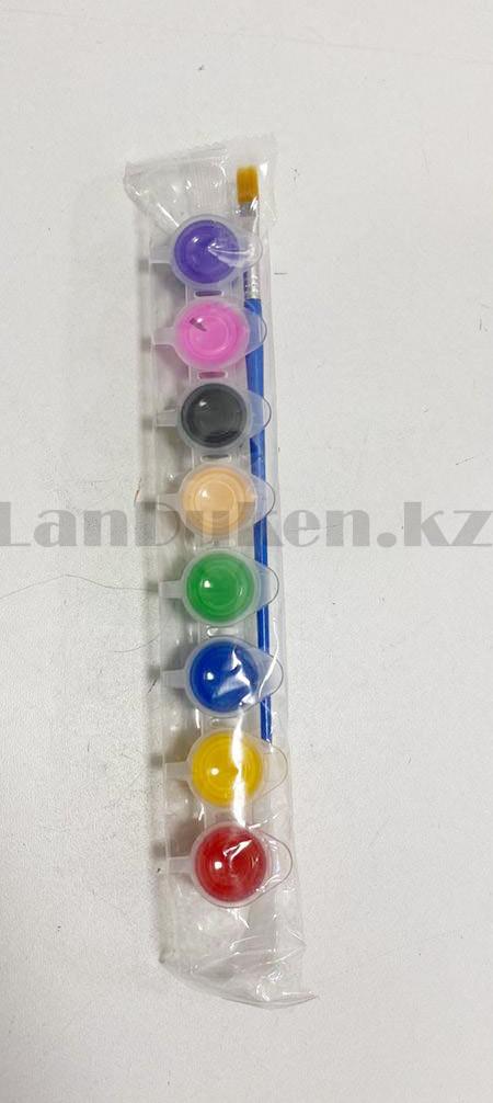 Набор для детского творчества копилка раскраска Крокодил, кисточка и краски 8 цветов - фото 2