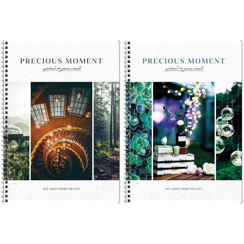 "Тетрадь 80л., А4, клетка на гребне ArtSpace ""Стиль. Precious moments"", ВД-лак"